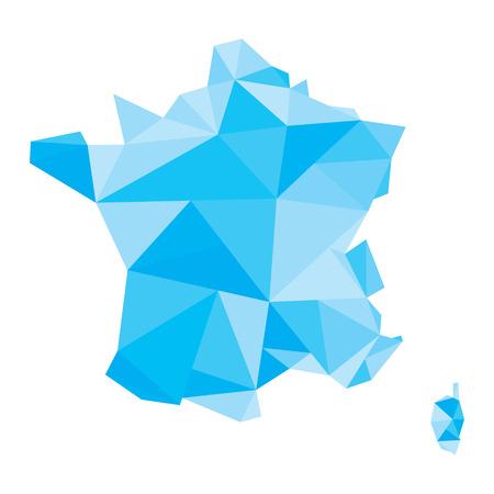 france: France polygonal map