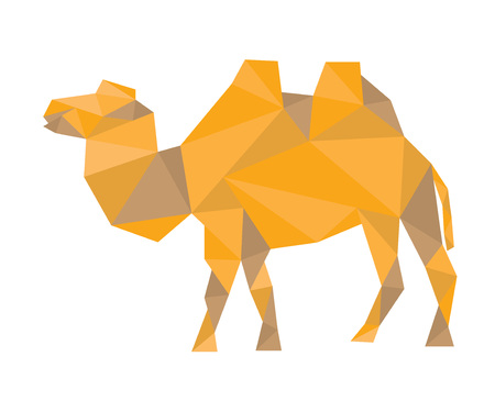 camel silhouette: triangular silhouette of camel Illustration