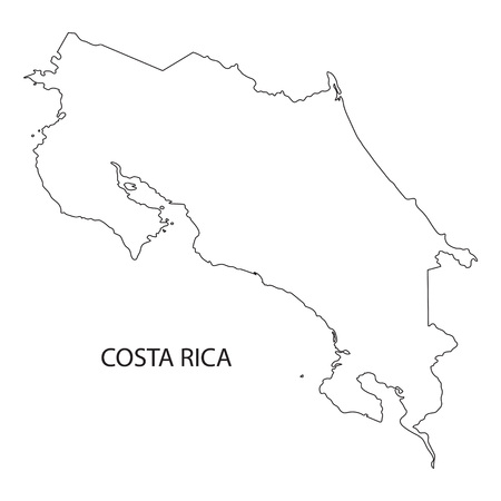 costa: black outline of the Costa Rica map