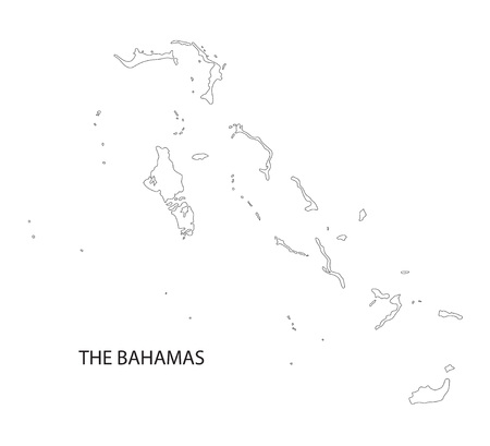 outline maps: vector outline maps of Bahamas
