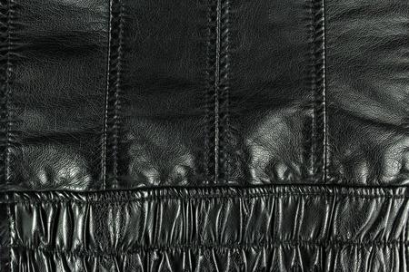 article of clothing: black leather jacket background