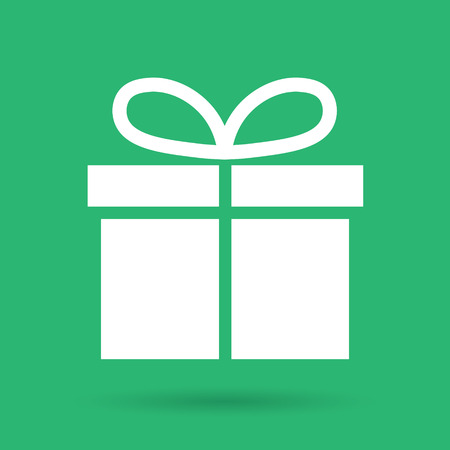 green and white christmas gift box vector