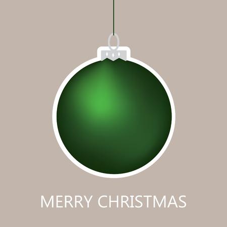크리스마스 공: green christmas ball 일러스트