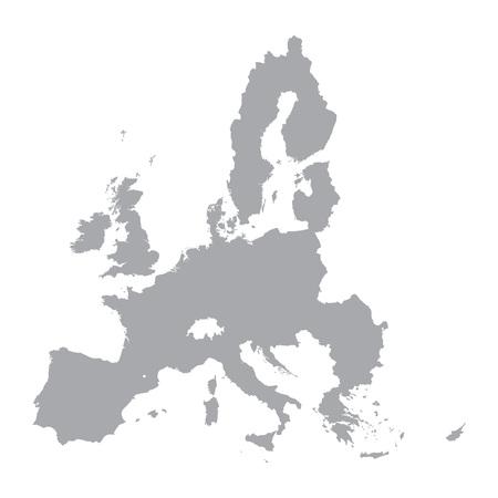 Grüne Karte von der Europäischen Union Standard-Bild - 48794846