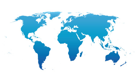 Blue Vector world map 일러스트