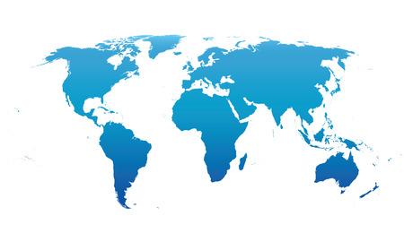 Blue Vector world map Illustration
