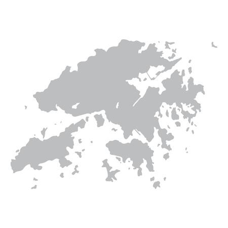 gray map of Hong Kong
