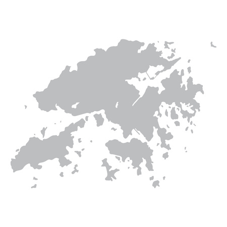 gray map of Hong Kong