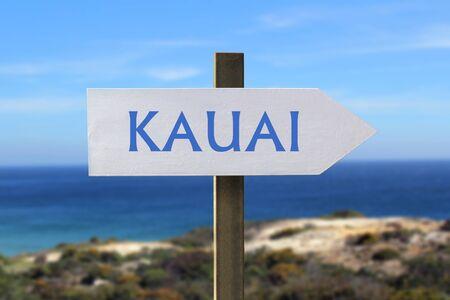 kauai: travel to Kauai concept Stock Photo