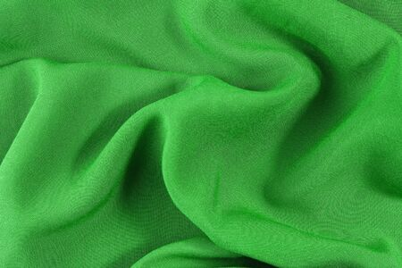 draped cloth: green wavy material