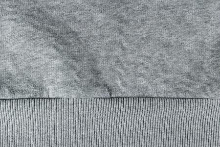 sudadera: algodón fondo gris sudadera Foto de archivo
