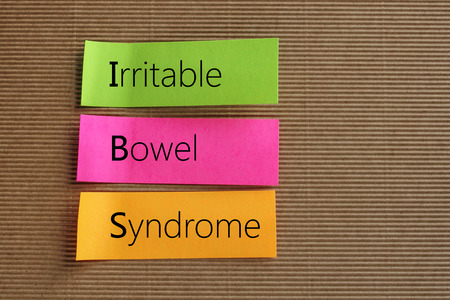 Irritable Bowel Syndrome text on colorful sticky notes