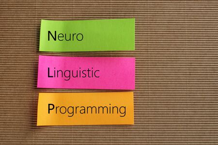 neuro: Neuro Linguistic Programming (NLP) text on colorful sticky notes