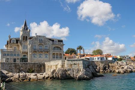 tourist resort: Cascais- very popular tourist resort near Lisbon in Portugal