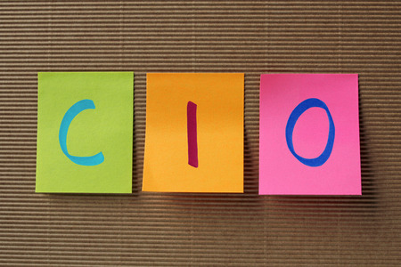 CIO (Chief Investment Officer or Chief Information Officer) acronym on colorful sticky notes