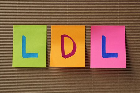 lipoprotein: LDL acronym on colorful sticky notes Stock Photo