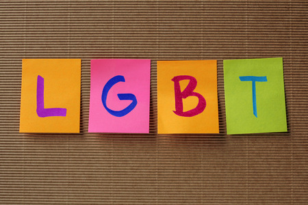 LGBT acronym on colorful sticky notes Stock Photo - 55217155