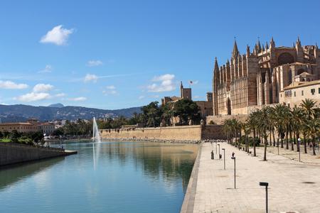 paysage de Palma de Mallorca, Majorque, Espagne Banque d'images