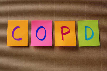 pulmonary: COPD (Chronic Obstructive Pulmonary Disease) acronym on colorful Stock Photo