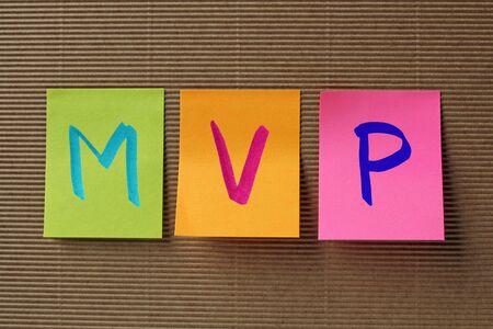 infective: MVP (Mitral Valve Prolapse) acronym on colorful sticky notes