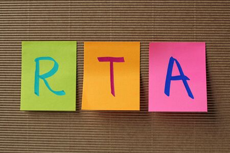 rta: RTA (Renal Tubular acidosis) acronym on colorful sticky notes