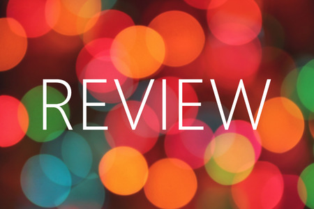 review: Review word on bokeh background Stock Photo