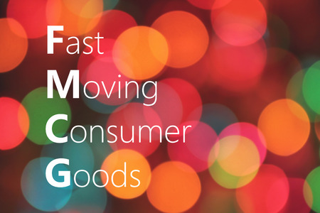 consumer goods: FMCG (Fast Moving Consumer Goods) acronym. business concept