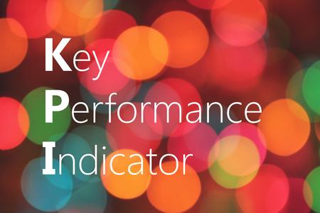 kpi: KPI (Key Performance Indicator) acronym on colorful background bokeh Stock Photo