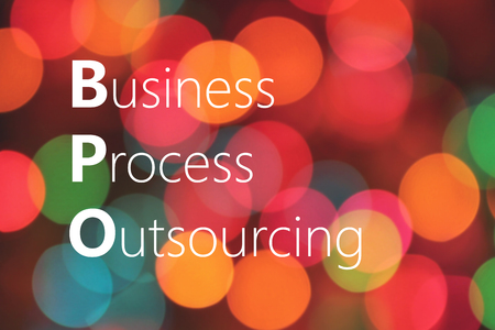 BPO (Business Process Outsourcing) acronym. business concept Banco de Imagens
