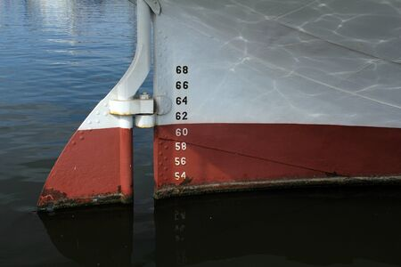 numbering: bow of ship with draft scale numbering