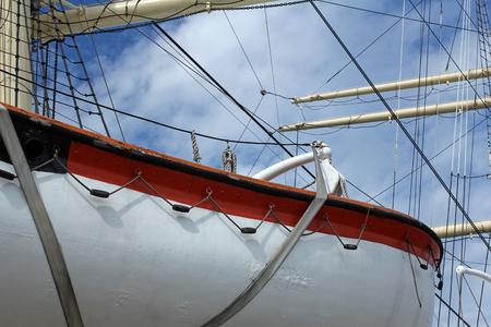 sailling: closeup of sailling ship