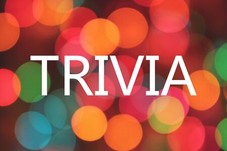 trivia: trivia word on colorful background bokeh Stock Photo