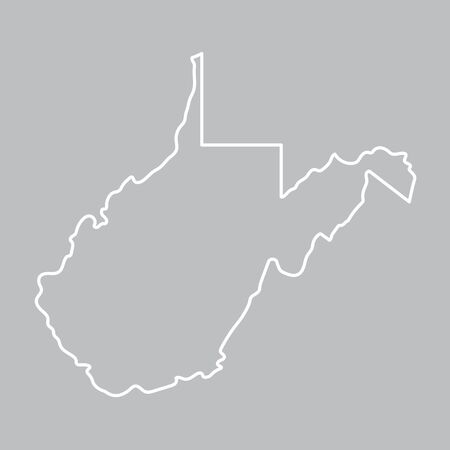 abstract outline of West Virgina map