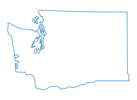 blue abstract outline of Washington maps