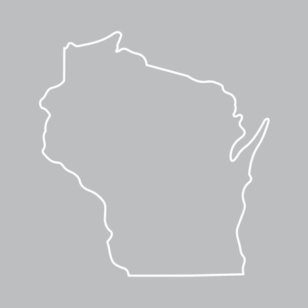 territorial: abstract outline map of Wisconsin