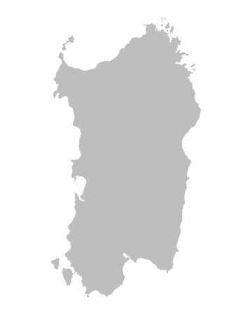gray map of Sardinia