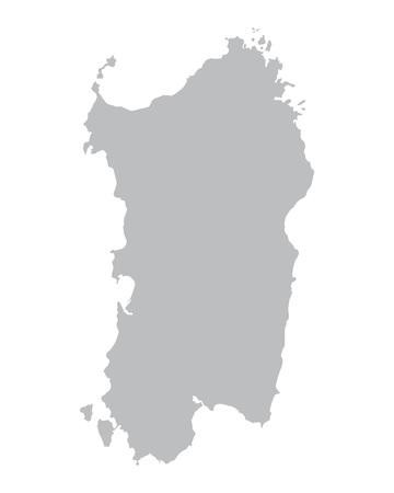gray map of Sardinia