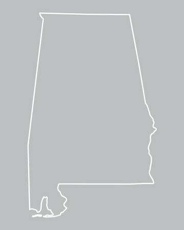 montgomery: abstract outline map of Alabama Illustration