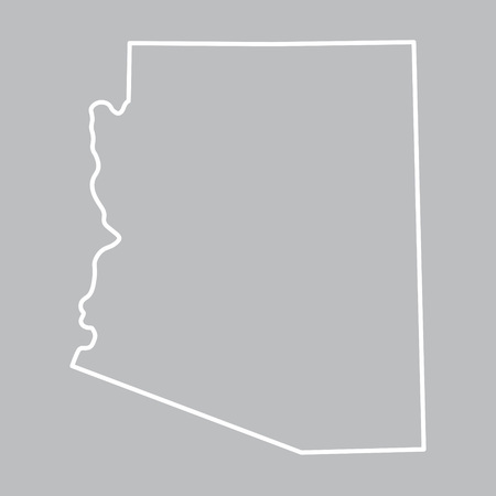 extensive: abstract outline map of Arizona