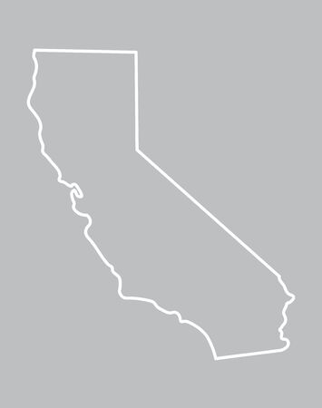 abstract outline map of California