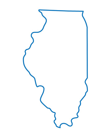 blue abstract outline of Illinois map