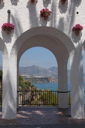 balcon: Balcon de Europa in Nerja Nerja- is famous resort on the Costa del Sol, Spain Editorial