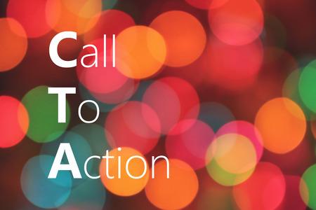 CTA (Call To Action) acronym, marketing concept