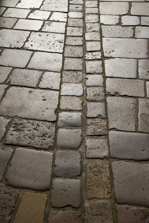 cobbled pavement background or texture
