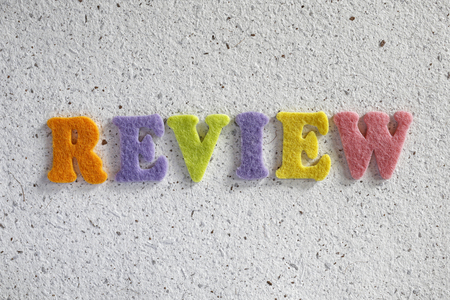 review: Review word on handmade paper texture