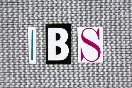 bowel: IBS (Irritable Bowel Syndrome) acronym on gray background