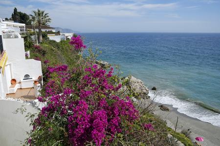 nerja: Nerja famous resort on the Costa del Sol, Malaga, Spain