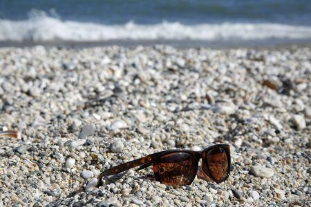 nerja: sunglass on the beach