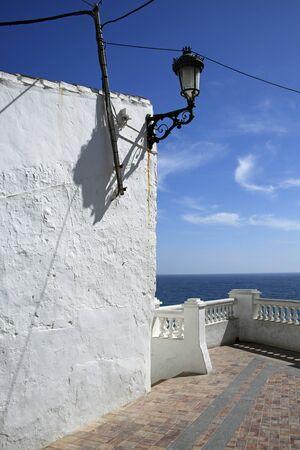nerja: observation deck (Mirador) in Nerja, Andalusia, Costa del Sol, Spain
