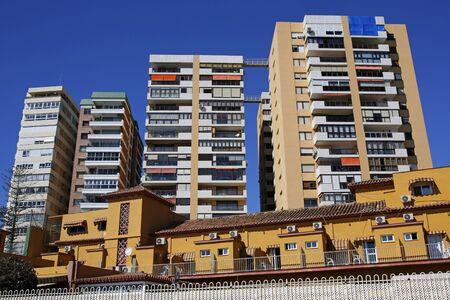 typical architecture district of La Malagueta in Malaga, Costa del Sol, Spain Stock Photo